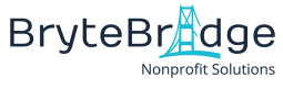 BryteBridge Nonprofit Solutions Logo_Navy Text White Background